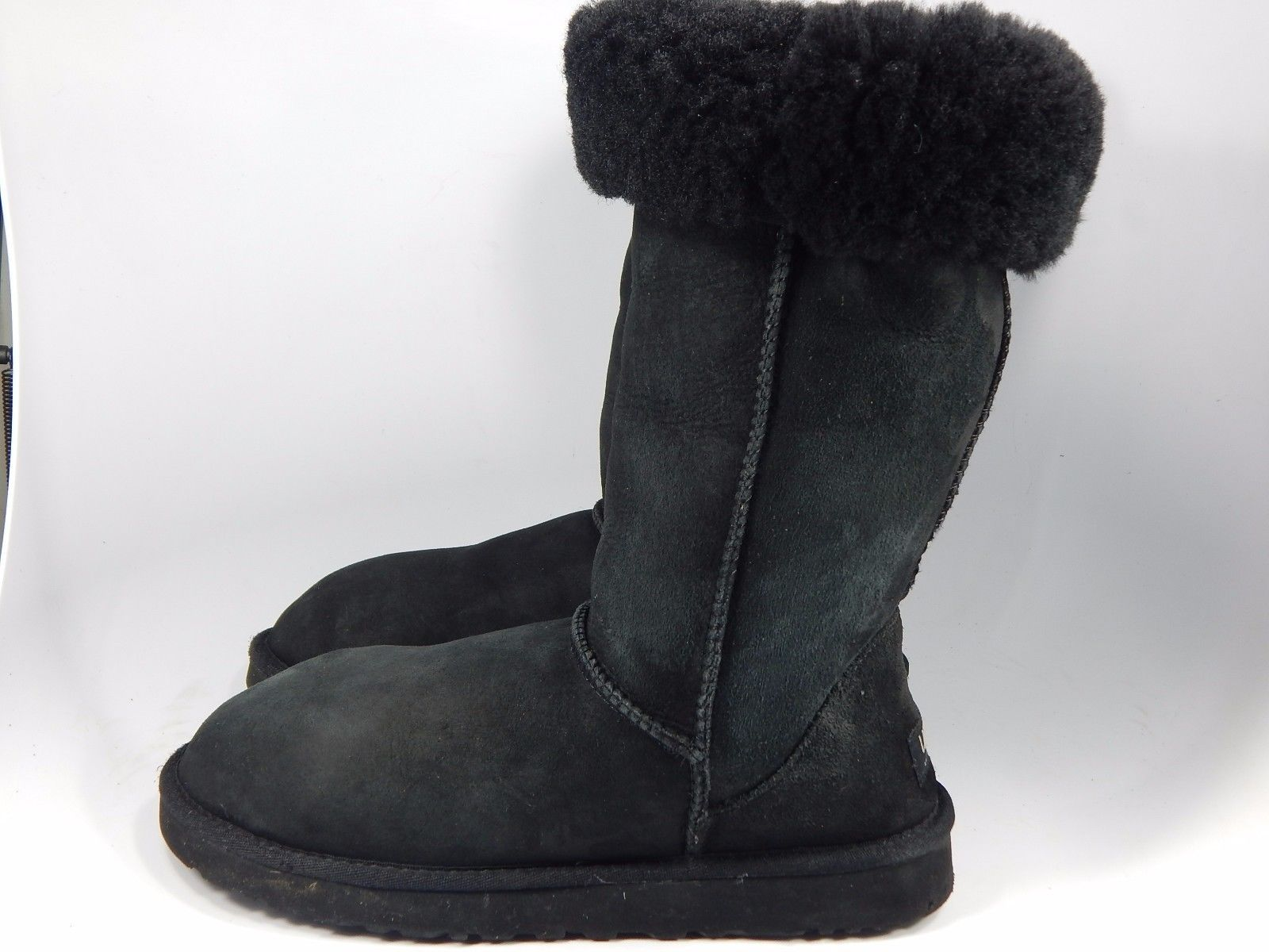 UGG Classic Tall Black Sheepskin Boots Size 10 M (B) EU 41 Model # 5815