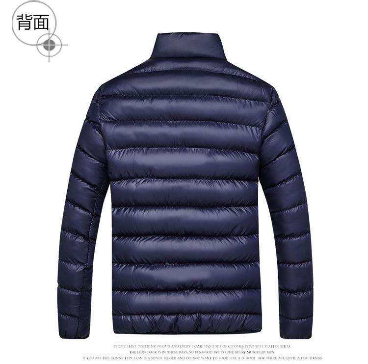 Fashion Men Down Coat Winter Down Jacket Warm Cotton Men's Coats Tops