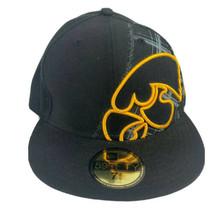 Iowa Hawkeyes Football Hat New Era Mens Fitted Size 7 3/8 - $22.99