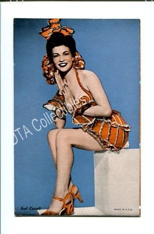 Primary image for PIN-UP GIRL-ARCADE CARD-1940-WOMAN W/WUFFLES IN HAIR VG/FN