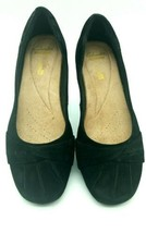 Clarks Collection US 7.5 M Black  Suede Texture Comfort Ballet Flats  3r9 - $24.99