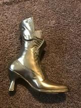 Vintage Brass Victorian Style Ladies Boot Shoe Planter Vase - $24.74