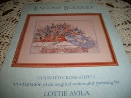 English Bouquet Counted Cross Stitch Chart KIS-28 - $12.00