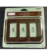 allen + roth Hemingway Triple Decorator Toggle Outlet/Switch Cover Plate,0364696 - $13.90