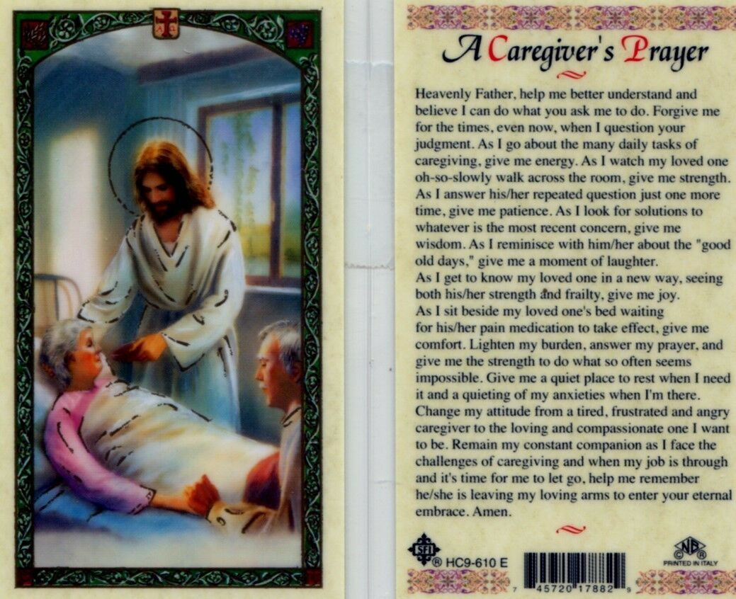 Primary image for A Caregivers Laminated Prayer Card - Item EB147 - Catholic Laminated