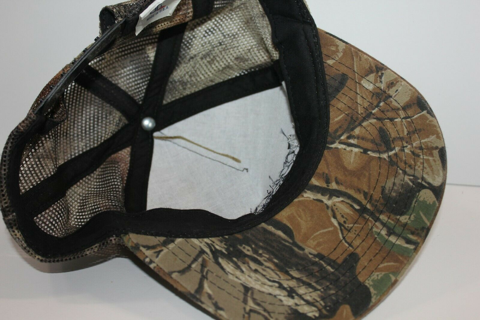 Trucker Hat Camouflage Columbia Forest Products Mesh Snapback USA Made