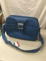 Vintage Blue Samsonite Royal Traveller Montbello Overnight Carry-On Luggage - $39.99