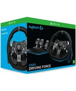 Logitech G920 Driving Force Steering Wheel Of Racing Leather And Pedal A... - $736.97