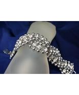 "Banana Replubic Women Rhinestones and Ball Bead Sliver Bracelet 7 1/2"" - $24.40"