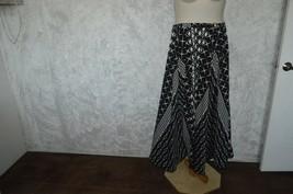 "Mint Green Brand full circle 91"" dance skirt geometric black, white SZ M - $9.88"