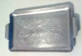 "Aluminum Embossed Desk Tray Fruit Theme 7 3/4"" By 4"" - $7.84"