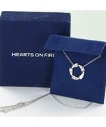 Hearts on Fire Triplicity Pendant Necklace 0.68cts Diamond 18k White Gol... - $2,570.49