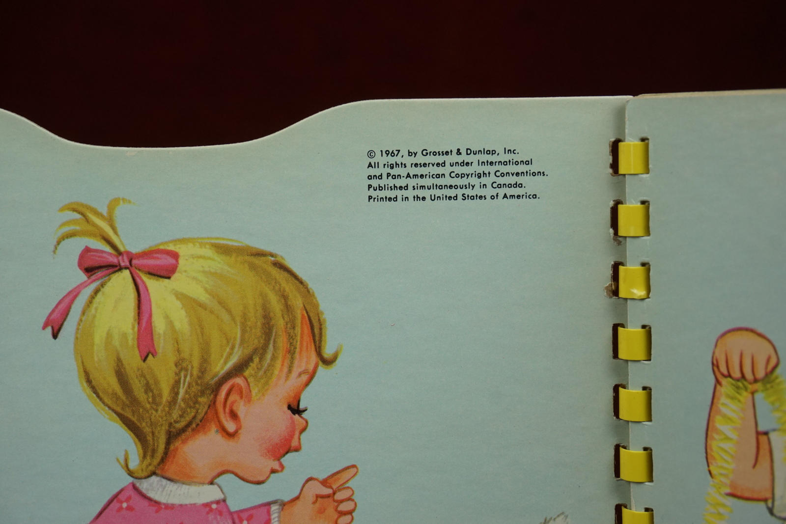 Baby's Christmas Book A Sturdi-Contour Book 1967 Board Book Childrens