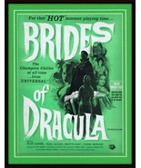 ORIGINAL Vintage 1960 Brides of Dracula 11x14 Framed Advertisement Peter... - $103.94