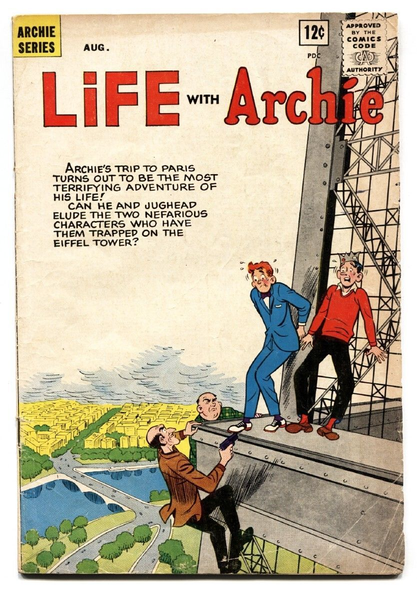 Life With Archie #22 1963-MLJ-Betty-Veronica-Eiffel Tower-crime VG
