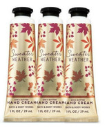 Bath and Body Works Sweater Weather 1 oz Hand Cream~3 Pack NEW - $14.80