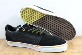 Vans Lindero (Wool) Black/Gold Skate Shoes MEN'S 7.5 WOMEN'S 9 image 3