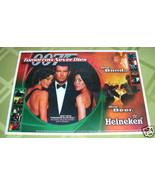 JAMES BOND 007 TOMORROW NEVER DIES BEER PROMO PLACEMAT - $12.00