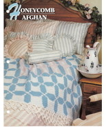 Honeycomb Pattern Crochet Annies Attic Crochet Quilt & Afghan Club  - $8.50