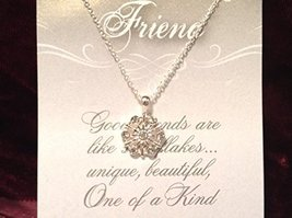 Friend Crystal Snowflake Necklace with Gift Card