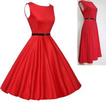 New Women Vintage 60S 1950S Dresses Casual Party A-Line Swing Retro Part... - $16.98
