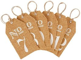 Kate Aspen Burlap Table Numbers: 7 to 12 - $13.43