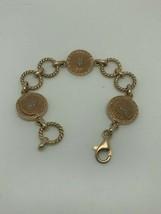 Versace Medusa Head Pink Rose Sterling Silver Bracelet Italy - $84.55