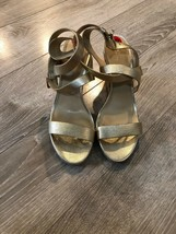 Michael Kors  Wedge Platform Sandals  Gold Sz 10 - $88.11