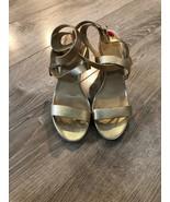 Michael Kors  Wedge Platform Sandals  Gold Sz 10 - $88.11