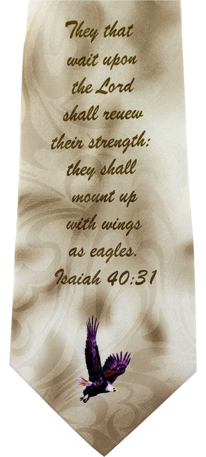 Wings As Eagles Mens Necktie Religious Scripture Isaiah 40:31 Christian Neck Tie image 2