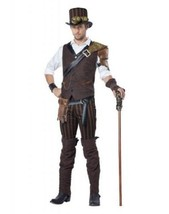 ADULT STEAMPUNK ADVENTURER SCARY SPOOKY VILLAIN HALLOWEEN COSTUME COSPLA... - $64.99