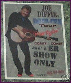 JOE DIFFIE Satin Backstage Pass