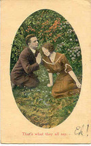 That Is What They All Say Romantic 1911 Vintage Post Card - $5.00