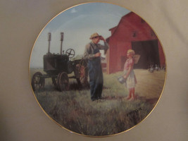 DADDY'S LITTLE HELPER collector plate EMMETT KAYE Farming the Heartland ... - $14.99
