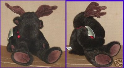BOYDS Bear Plush jointed Brown MOOSE Old White Tag