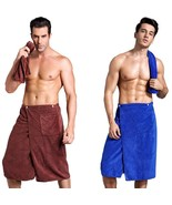 Adjustable Man Bath Towel Absorbent Soft Creative Gym Skirt Pokcet Bathrobe - $22.79