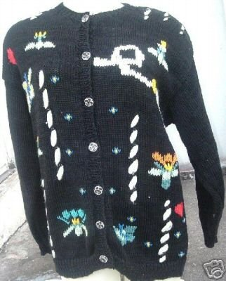 GRAZIA cotton Cardigan Sweater Hand Knit made in ITALY