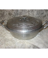 Hammered Aluminum-Everlast- 2 pc Casserole-1950's - $24.00