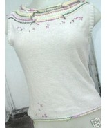 BCBG MAX AZRIA cotton Embroidered top Shirt sz S - $9.99
