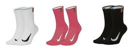 New Nike MULTIPLIER CREW 2 Pair Socks Dri-Fit Large SK0118 Tennis Runnin... - $20.00