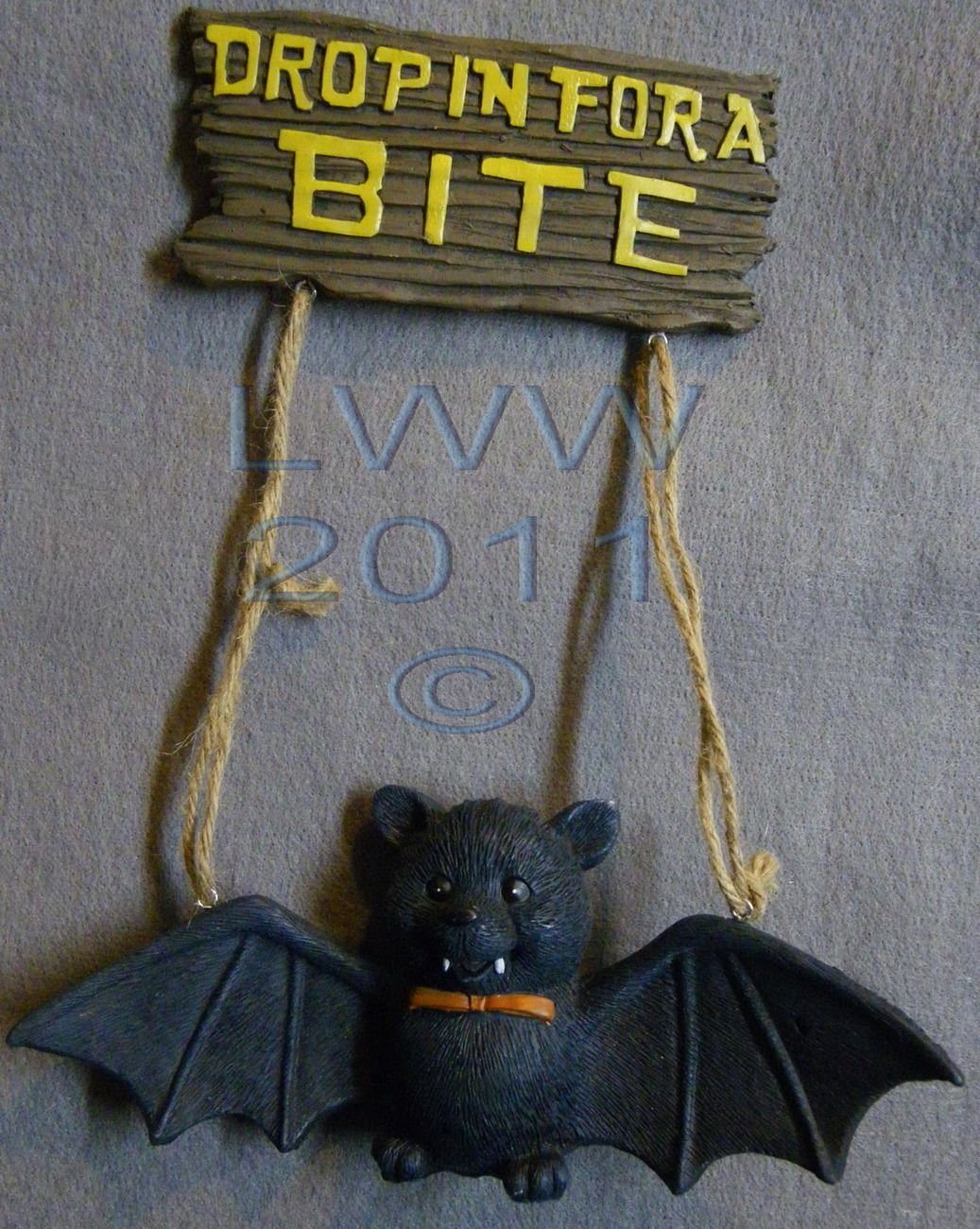 Primary image for Drop in for a Bite 3-d Vampire Bat Halloween Resin Sign
