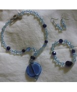 3 piece jewelry set, necklace, bracelet, earrin... - $14.00