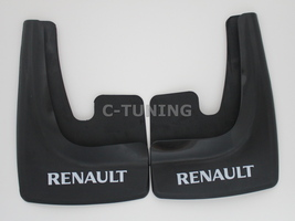 Universal car mud flaps with Renault logo rear front snow guards 3D cust... - £22.80 GBP