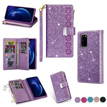 K6) shine Leather wallet FLIP MAGNETIC BACK cover Case for Samsung Galaxy - $68.73