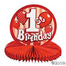 1st Birthday Red Centerpiece  - $5.74