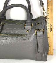 Erica Anenberg Grey Leather Cross Body Satchel Shoulder Bag image 7