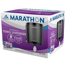 Marathon Center-Pull Towel Dispenser, 300 Sheet Capacity (Smoke)BRAND NEW - $25.99