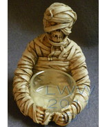 Resin and Glass Halloween Mummy Tea Candle Holder - $4.00