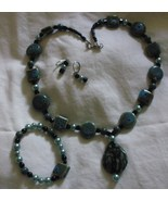3 piece jewelry set, necklace, earrings, and br... - $14.50