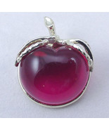 Signed Sarah Coventry Pink Lucite Jelly Belly Apple Pin - $10.00